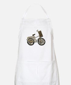 Golden Bicycle with Basket Apron