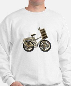 Golden Bicycle with Basket Sweatshirt