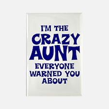 Crazy Aunt Rectangle Magnet