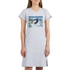 Ski Dachshunds Women's Nightshirt
