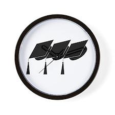 Graduation Caps! Wall Clock