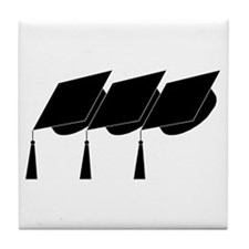 Graduation Caps! Tile Coaster