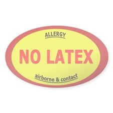 No Latex / Latex Allergy Decal