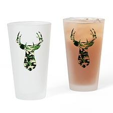 BUCK IN CAMO Drinking Glass