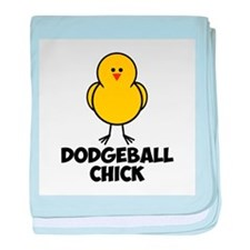 Dodgeball Chick baby blanket