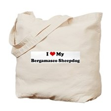 I Love Bergamasco Sheepdog Tote Bag
