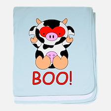 Halloween Cow baby blanket