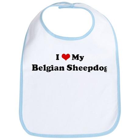 I Love Belgian Sheepdog Bib