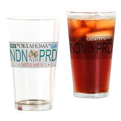 Oklahoma NDN Pride Drinking Glass