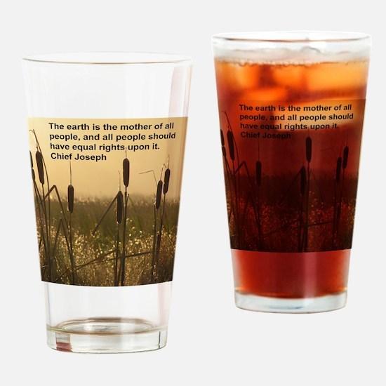 Chief Joseph Earth Quote Drinking Glass