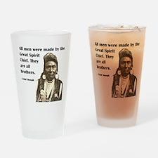 Brotherhood Quote Drinking Glass