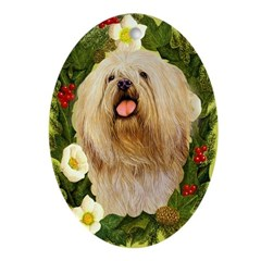 Lhasa Apso Ornament (Oval)
