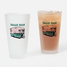Trailer Trash Drinking Glass