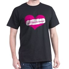 Pink Heart Contemporary T-Shirt