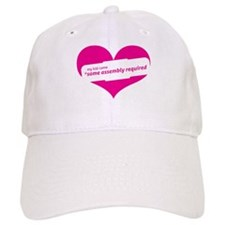 Pink Heart Contemporary Baseball Cap