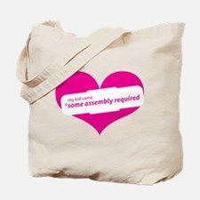 Pink Heart Contemporary Tote Bag