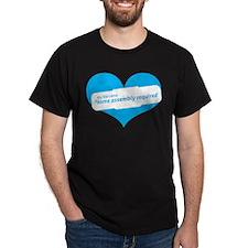 Blue Heart Contemporary T-Shirt