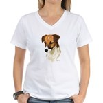 Jack Russell Women's V-Neck T-Shirt