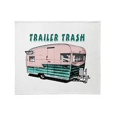 Trailer Trash Throw Blanket