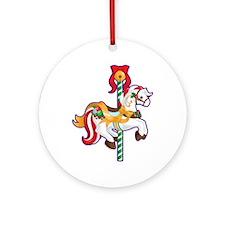 Christmas Carousel Ornament (Round)
