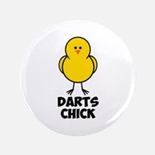 "Darts Chick 3.5"" Button"
