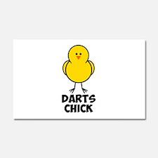 Darts Chick Car Magnet 20 x 12