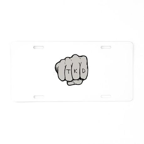 TKD Fist Aluminum License Plate