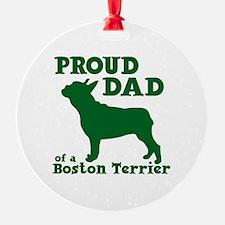 BOSTON TERRIER DAD Ornament