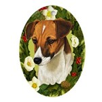 Jack Russell Ornament (Oval)