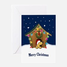Doghouse Xmas Card Greeting Cards