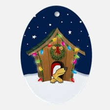 Doghouse Xmas Ornament (Oval)