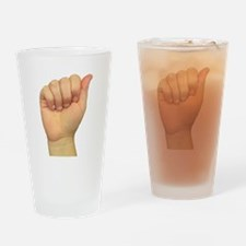 ASL Letter A Drinking Glass