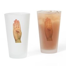 ASL Letter B Drinking Glass