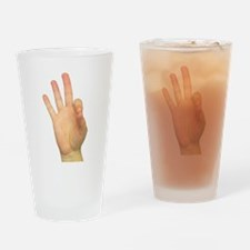 ASL Letter F Drinking Glass