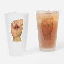 ASL Letter S Drinking Glass