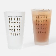 ASL Alphabet Drinking Glass