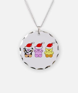 Cow, Pig & Chicken Santas Necklace