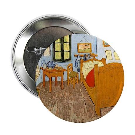 "Vincent Van Gogh Bedroom 2.25"" Button (10 pack)"