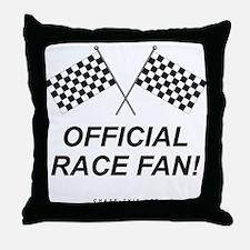 Checker Flag Official Throw Pillow