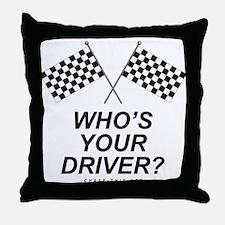 Checker Flag Driver Throw Pillow