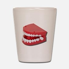 Fake Chattering Teeth Shot Glass