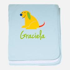 Graciela Loves Puppies baby blanket