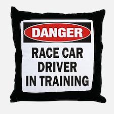 Race Driver Throw Pillow