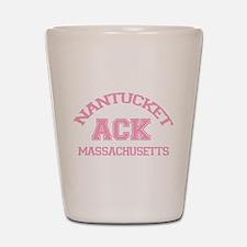 Nantucket MA - Varsity Design Shot Glass