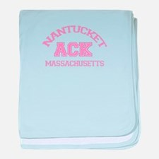 Nantucket MA - Varsity Design baby blanket