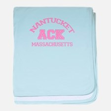 Nantucket MA - Varsity Design baby blanket