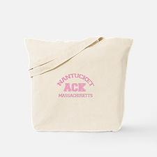Nantucket MA - Varsity Design Tote Bag