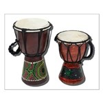 Djembe Drums 1 Small Poster