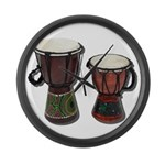 Djembe Drums 1 Large Wall Clock