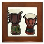 Djembe Drums 1 Framed Tile